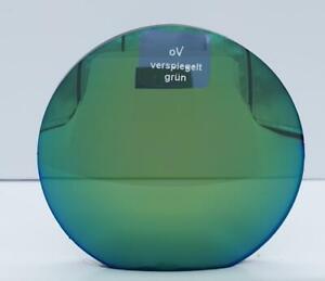 2 grün verspiegelte Sonnenbrillengläser Einstärken Index 1,5 incl. HRSET