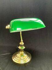 Vintage Lloytron Banqueros Lámpara De Mesa/Escritorio soplado a mano Verde Sombra Caja Original