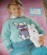 Strick & Schick von 1988 Kinder Bilderpullis und andere Stricken Strickheft