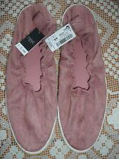 BNWT Next Pink Sporty Ballerina Shoes/ Pink Velvet/ Size 7
