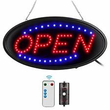 Led Open Sign With Remote 19x10inches Ultra Bright Electric Assorted Sizes