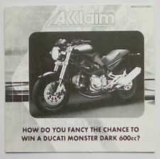 *RARE* Acclaim Ducati Promotional Flyer Playstation One 1 PSOne PS1 PSX