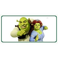 shrek and fiona dreamworks animated movie color metal license plate usa made