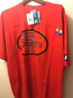 San Francisco 49ers Men's Size XL Tshirt Starter NFL s Red Short Sleeve