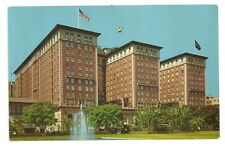 Postcard CA Biltmore Hotel Los Angeles California USA Flag Vintage