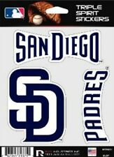 San Diego Padres Die Cut Decals 3 Pack Car Window, Laptop, Tumbler MLB, Rico