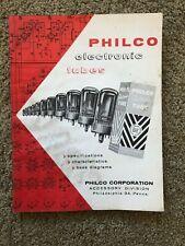 VINTAGE 1950's PHILCO ELECTRONICS TUBES CHARACTERISTICS CHART  55 Pages
