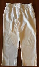 SPORTSCRAFT Snow White Flat Front Stretch Textured Cotton Cropped Casual Pant 8
