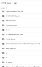 Access to Google Drive folder with 300 tb of content