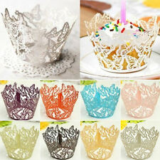 AM_ HK- 12 Butterfly Muffin Cup cake Wrapper Wrap Case Xmas Wedding Birthday Lin