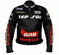 Repsol Racing Biker Motorbike Leather Jacket Motorcycle Leather Jackets CE