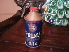 PRIMA ALE Cone Top Beer Can IRTP Prima Brewing Chicago, ILL Nice Resealable Cap