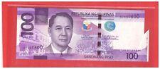 """2018 B PHILIPPINES 100 Peso NGC Duterte, Espenilla Error - """" Tail """" BZ860600 UNC"""