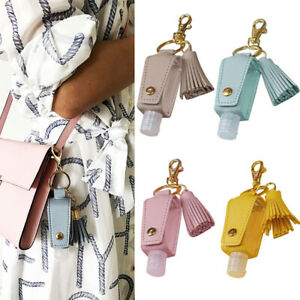 Sanitizer Bottles with Keychain Holder Refillable Bottles Cosmetic Container