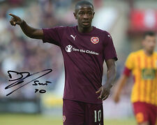 Arnaud Djoum, Heart of Midlothian, Hearts, signed 10x8 inch photo. COA.