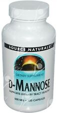 D-Mannose - Urinary Tract Health 500mg x120caps - ECONOMY SIZE BOTTLE - VALUE!!!