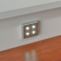 SQUARE KITCHEN LED PLINTH LIGHT KIT COOL WHITE / WARM WHITE 38MM