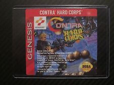 Contra Hard Corps Sega Genesis Replacement Game Label Sticker Precut
