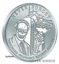 1 oz 2018 Lucky Larry BU - Never Forget #6 with COA Silver Shield 911 Inside Job