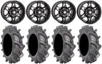 "STI HD7 14"" Wheels Smoke 30"" BKT AT 171 Tires Kawasaki Teryx Mule"