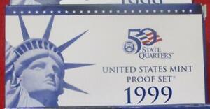 1999-S United States CLAD  Proof Set 9 piece set NIB with COA         #MF-T2084