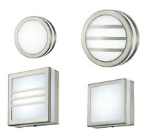 LED Round Square Wall Lamp Flush Ceiling Outdoor Stainless Steel 2.4 Watts 4000K