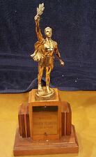 Vintage  Trophies Roman Trophy Art Deco Mid Century Modern Sports Wood  Dance