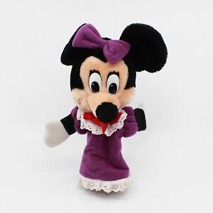 MINNIE MOUSE IN PURPLE DRESS Hand Puppet Plush - Disneyland / Disney World