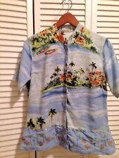 Weekend Clothesline Cruise/Beach Scenes Woman's Top Med Embellished Seed Beads