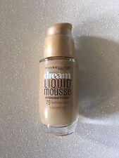 2 X Maybelline 30ml Dream Liquid Mousse 75 Natural Beige