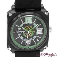 Ed Hardy Date watch green NWT