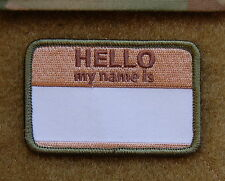 HELLO MY NAMES IS... Multicam Morale Patch VELCRO® Brand Hook Backing