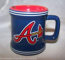 Atlanta Braves Mlb Sculpted Ceramic Mini Mug Collector Shot Glass 2 Oz.