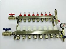 9 port underfloor heating manifold, Brand New