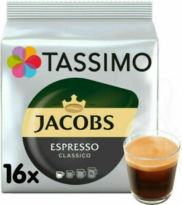 Tassimo Jacobs Espresso Classico T Discs Pods 16/ 32/ 48/ 64/ 80 Expresso Drinks