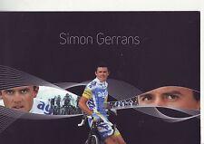 CYCLISME carte cycliste SIMON GERRANS équipe AG2R 2007