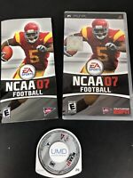 NCAA Football 07 Sony PlayStation Portable PSP Video Game Complete!