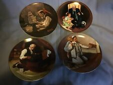 Lot Of 4 Norman Rockwell's Collectors Plates,Nice Condition,Vintage The Painter+