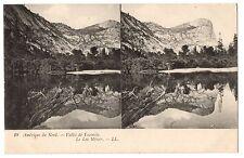 CPA stéréoscopique - ETATS UNIS - 18. Vallée de Yosemite. Le Lac Miroir - LL
