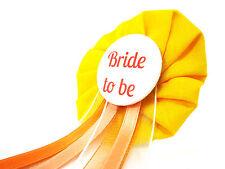 Orden Bride to be JGA gelb orange Deko AnneSvea Anstecker Button Hochzeit Braut