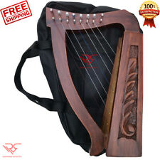 Mini Irish Harp 8 String Sheesham Wood│Free [Carry Bag & Tuning key] by RS