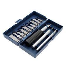 16STK/SET Präzision Grabstichel Stencil Ritzen Cutter 3 Messer+13 Schneideklinge