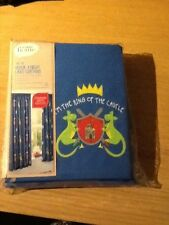 """Heroic Knight 66"""" x 54"""" LINED CURTAINS with 2 tie backs TAB TOP  by George home"""