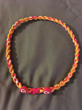 "KANSAS CITY CHIEFS 22"" Titanium Double Rope NECKLACE NEW! FAST! FREE SHIP!"