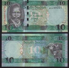 Sudán del Sur 10 libras de 2015, Pick 7b como nuevo UNC
