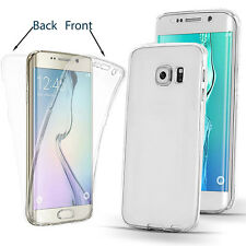 360° Silikon Protective Clear Case Cover For Samsung Galaxy S6 S7 S7 Edge S8 S8+