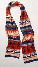 Anthropologie SIDEWALK CAFE SCARF Embroidered Sequins Embellished Navy NIP