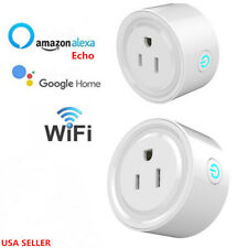 Smart Wi-Fi Mini Outlet Plug Switch Works With Echo Alexa Google Home 2 Packs