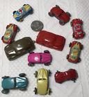 """Vintage LOT  Miniature  Tin Toy Car CARS Japan 1 1/2"""" 9 Tin 2 Plastic Nice Shape"""