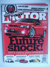 MOTOR JANUARY 2009,05 TORANA A9X,NISMO GT-R,HSV,SUBARU WRX,RALLIART,ELFIN,IS-F